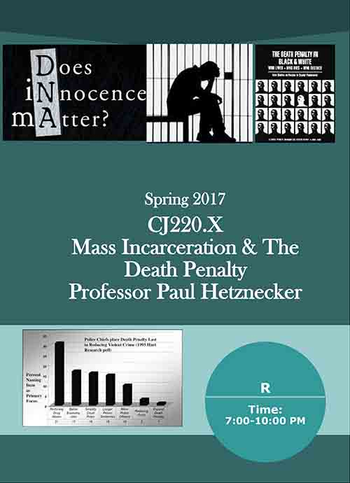 Paul Hetznecker Teaching Mass Incarceration and Death Penalty Poster